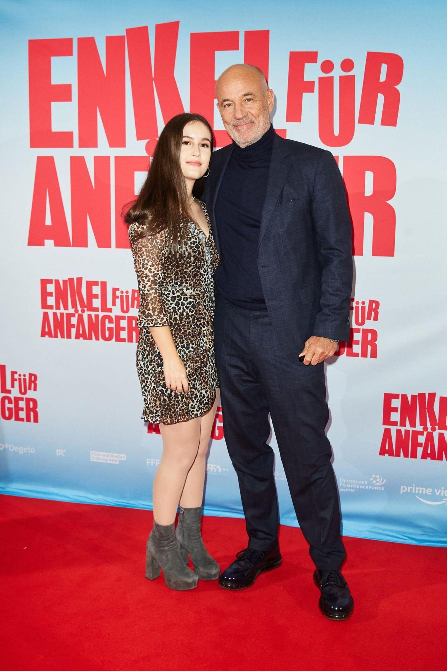 Heiner Lauterbach + Tochter Maya bei einer Filmpremiere