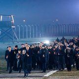 Trauermarsch in Auschwitz