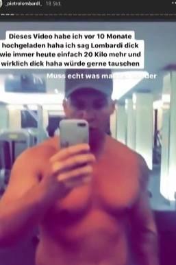 Pietro Lombardi auf Instagram