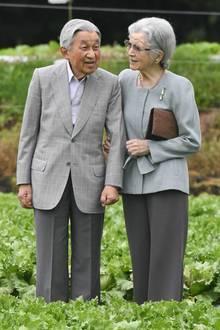 Das emeritierte KaiserpaarAkihito undMichiko