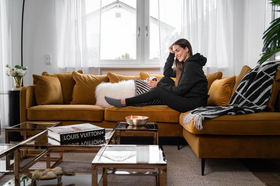 Clea-Lacy Juhn in ihrem Haus in Baden-Baden