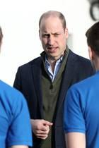 Prinz William besucht den Fußballclub Everton