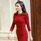 Königin Letizia in rotem Hugo Boss Look