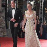 Prinz William und Herzogin Catherine sind die Ehrengäste der BAFTA-Verleihung. Die Herzogin trägt eine Sonderanfertigung von Alexander McQueen.
