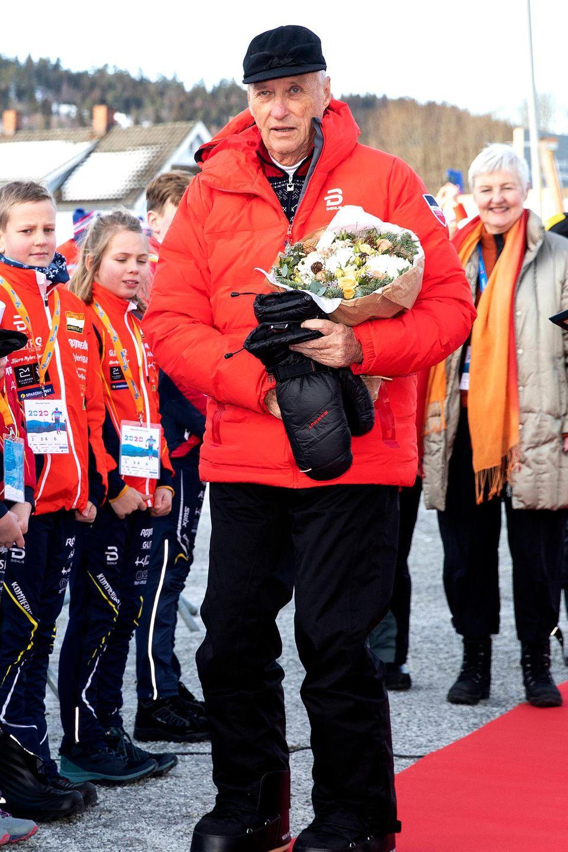 König Harald bei den Langlaufmeisterschaften
