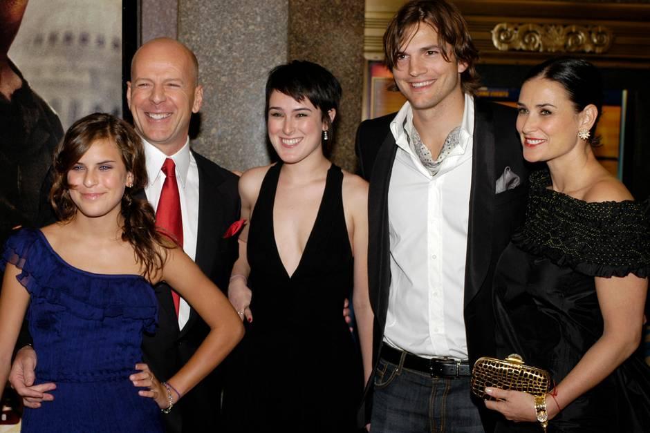 Tallulah Willis, Bruce Willis, Rumer Willis, Ashton Kutcher und Demi Moore