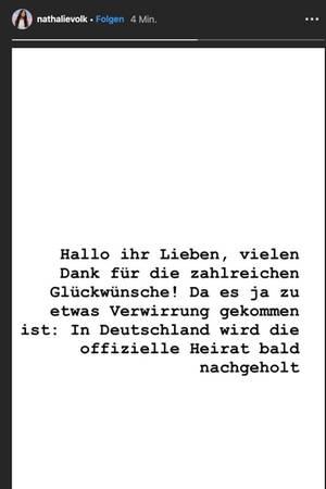 Nathalie Volks Instagram Story