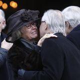Jill Bernadotte nach der Trauerfeier für Dagmar von Arbin