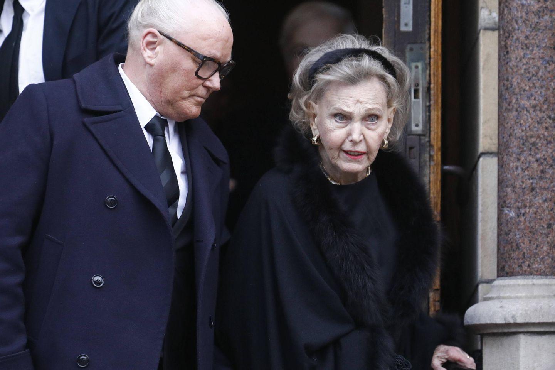 Prinzessin Marianne Bernadotte von Wisborg war in zweiter Ehe mit dem ehemaligen Prinzen Sigvard Bernadotte verheiratet und und gibt ihrer Verwandten das letzte Geleit.