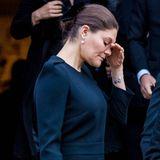 Prinzessin Victoria ringt nach der Trauerfeier um Fassung