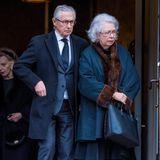 Prinzessin Christina verlässt die Kirche in Stockholm