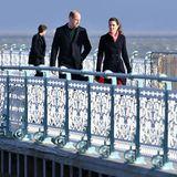 Prinz William und Herzogin Catherine am Pier in Wales