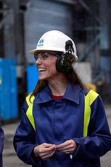 Prinz William und Herzogin Catherine im Tata-Steel-Stahlwerk