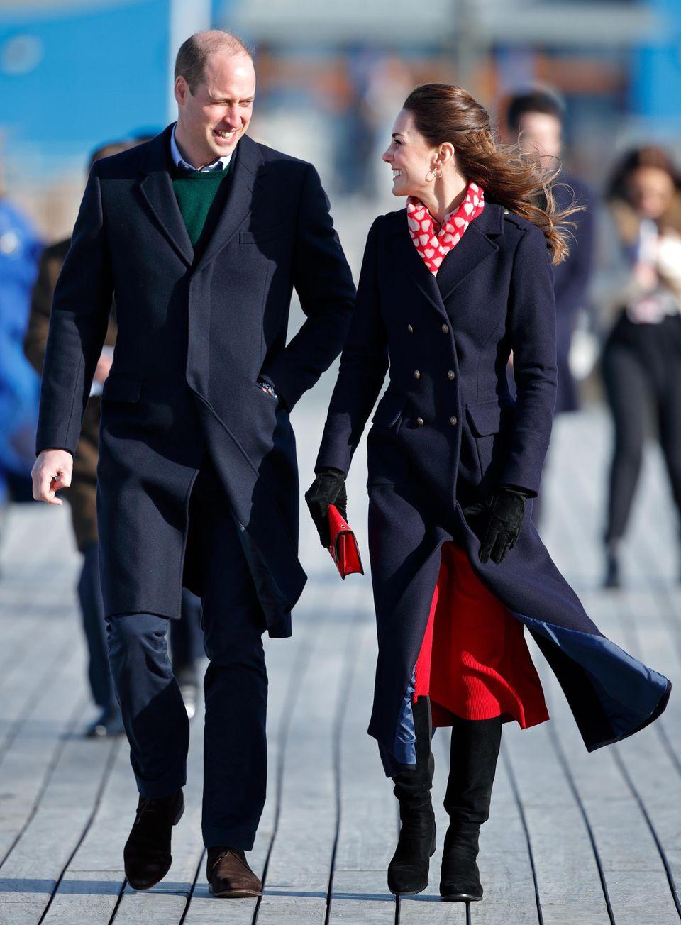 Prinz William und Herzogin Catherine in Wales