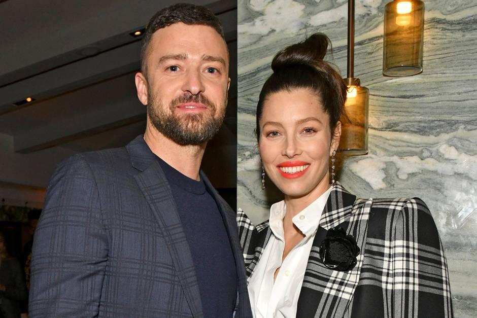 Justin Timberlake und Jessica Biel im auffälligen Partnerlook