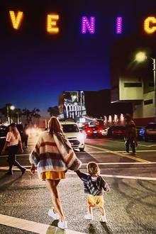 Annie Carpendal mit Sohn Mads in L.A.