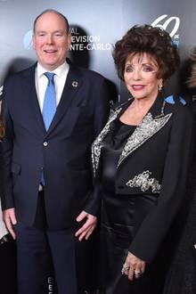 Prinz Albert trifft Joan Collins