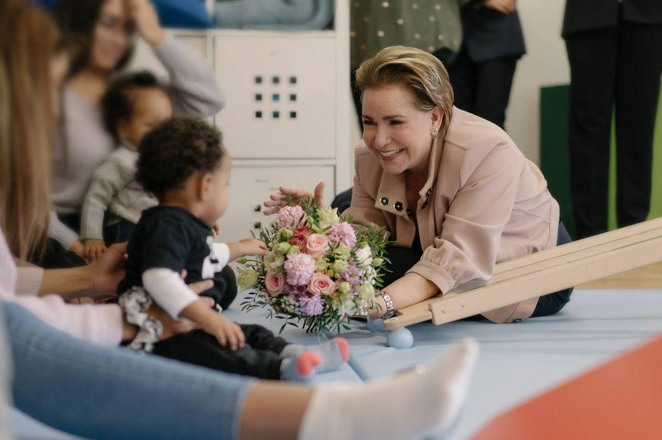 Trotz aller Kritik: Großherzogin Maria Teresa geht unbeirrt ihrer Arbeit nach und nimmt am 5. Februar 2020 einen Termin im Norbert-Ensch-Zentrum in Luxemburg wahr.