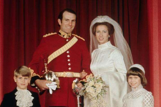 Mark Philips und Prinzessin Anne heirateten am 1. November 1973.