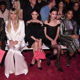 Leslie Jones, Heidi Klum, Rachel Bilson, Alexa Chung, Indya Moore und Zhavia Ward sitzen hierin der Front Row.
