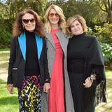 Gastgerberin Diane von Furstenberg, Laura Dern und Produzentin Amy Pascal lassen sich gerne zusammen fotografieren.