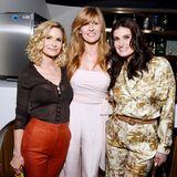 Und das Trio Kyra Sedgwick, Connie Britton und Idina Menzel hat auch ihren Spaß.
