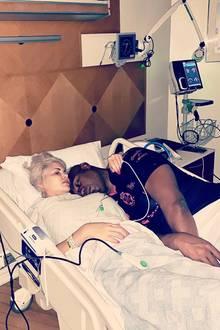 Sophia Vegas liegt im Krankenhaus. An ihrer Seite: Ehemann Daniel Charlier