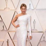 Renée Zellweger bezaubert im weißen Glamour-Look von Armani.