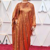 Maya Rudolph glitzert im Kupfer-Look.