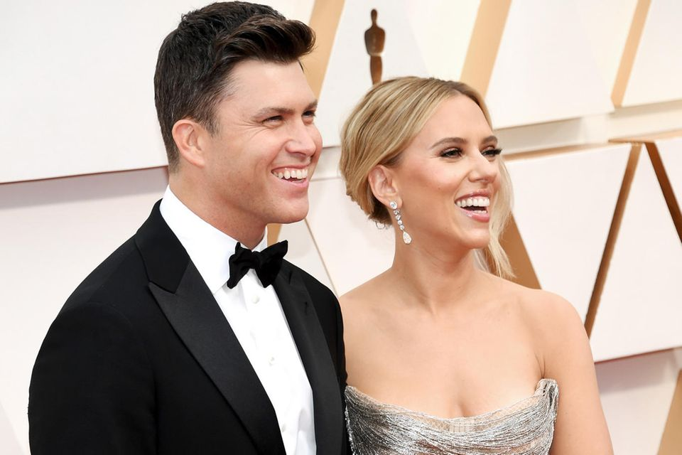 Colin Jost und Scarlett Johansson