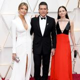 Drei ist eine Party - Antonia Banderas kommt gleich mit zwei Frauen zur Oscar-Verleihung. Zu seiner Rechten in weiß FreundinNicole Kimpel und zu seiner Linken seine wunderschöne TochterStella Banderas.