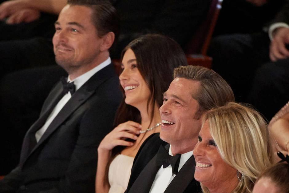 Leonardo DiCaprio, Camila Morrone und Brad Pitt