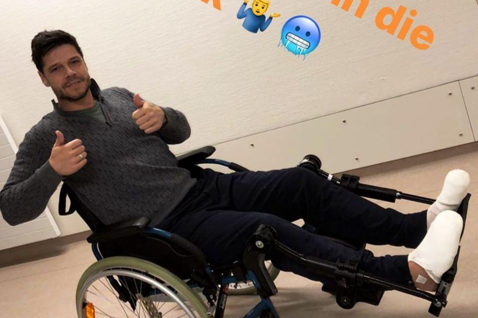 Stephen Dürr im Krankenhaus