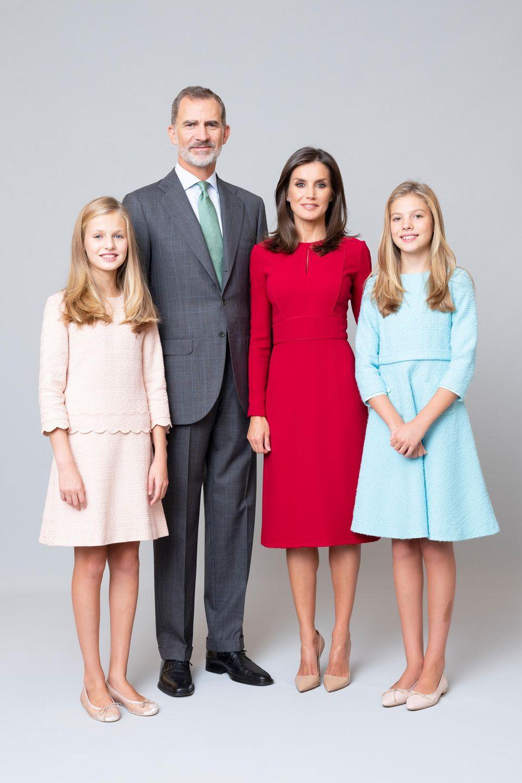 Familienfoto der spanischen Königsfamilie