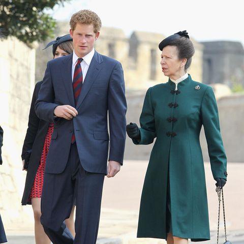 Prinz Harry und seine Tante, Prinzessin Anne.