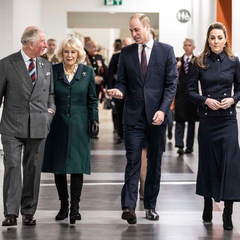 Prinz Charles, Herzogin Camilla, Prinz William und Herzogin Catherine (v.l.n..r)