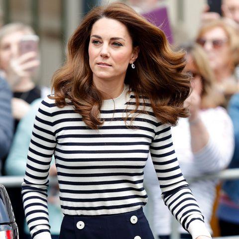 Herzogin Kate im Fashion-Klassiker, dem Ringelshirt