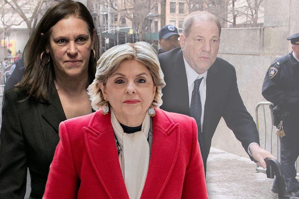 Joan Illuzzi-Orbon, Gloria Allred und Harvey Weinstein