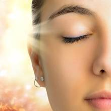 Frau, Gesicht, Licht, Lichttherapie