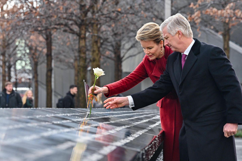 Das belgische Königspaar besucht das 9/11 Denkmal m Ground Zero