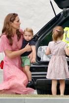 Herzogin Catherine, Prinz Louis, Prinzessin Charlotte und Prinz George