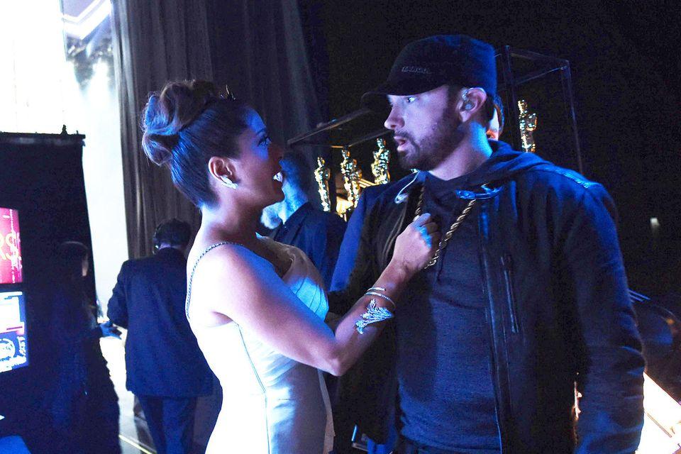 Salma Hayek + Eminem