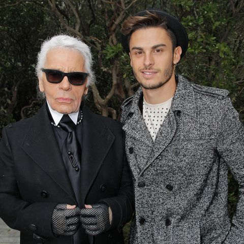 Chanel-Designer Karl Lagerfeld und seine Muse Baptiste Giabiconi verband eine enge Freundschaft.