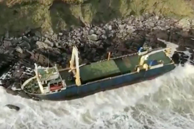 """Verlassenes Frachtschiff """"MV Alta"""" nahe Ballycotton"""