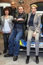 """Jan Fedder mit seinen Kollegen vom """"Großstadtrevier"""""""