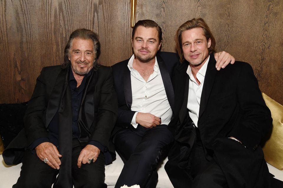 Al Pacino, Leonardo DiCaprio und Brad Pitt