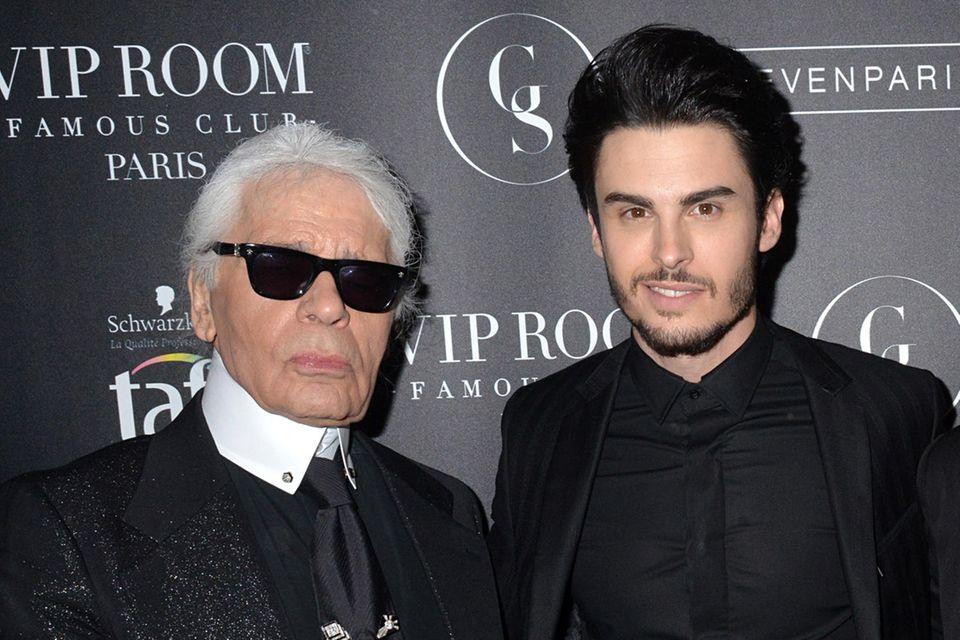 Karl Lagerfeld und Baptiste Giabiconi