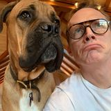 Paul Bettany + sein Hund