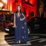 Auch Schauspielerin Nilam Farooq kommt dank Audi-Shuttle trockenen Fußes bei der BerlinOpening Night an.
