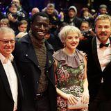 Fünf Freunde auf der Berlinale: Joachim Król,Welket Bungue, Jella Haase, Albrecht Schuch undAnnabelle Mandeng